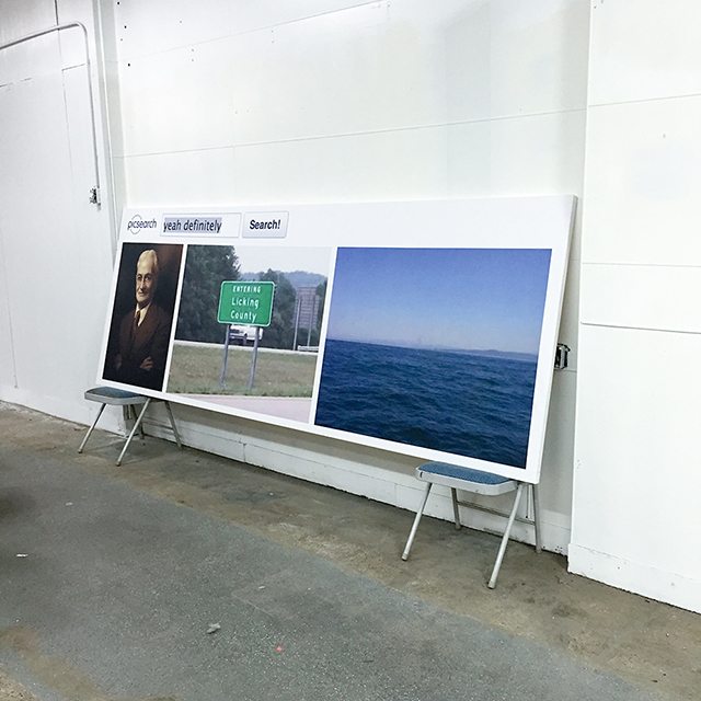 Installation view of an exhibition at Mark Flood Resents
