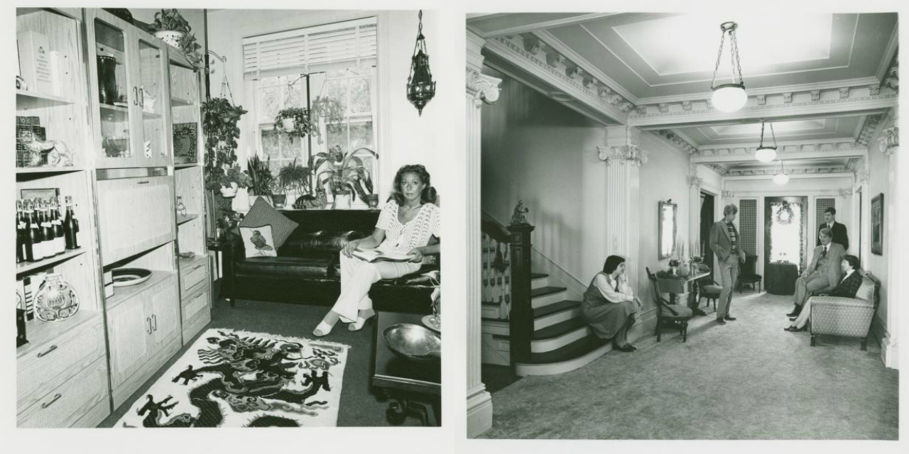 Dinanda Nooney, Yvonne Ladato at home. 8820 Fort Hamilton Parkway, Bay Ridge, Brooklyn. August 6, 1978; John & Elinore Koechley & family. 122 76th St., Bay Ridge, Brooklyn. December 26, 1978.