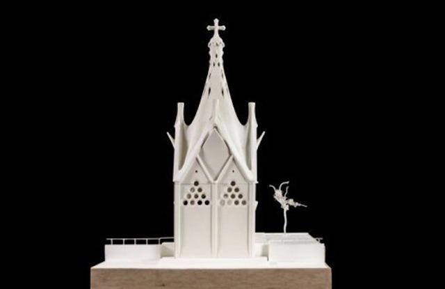 A model of Our Lady of Angels Chapel (Image courtesy of Corporación Gaudí de Triana)