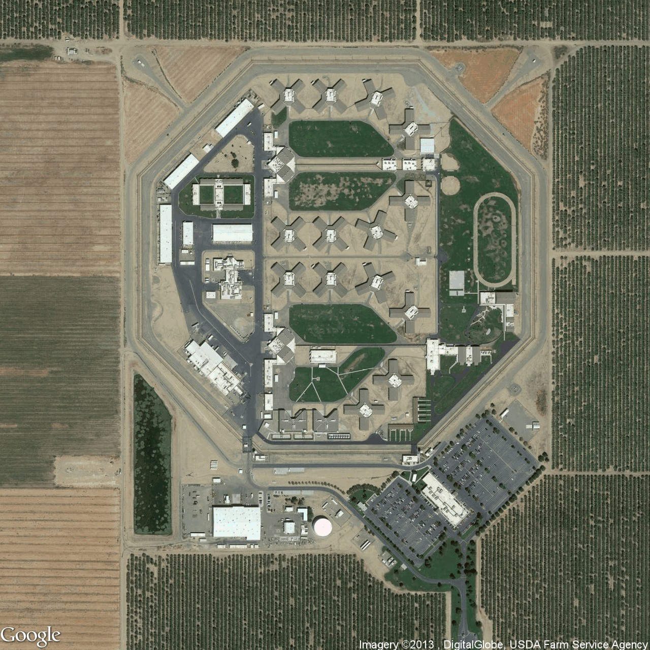 """Josh Begley, """"Facility 492,"""" from the series 'Prison Map'"""