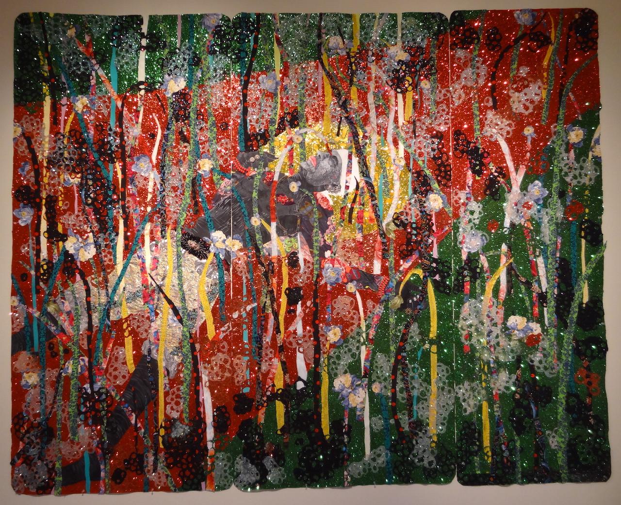 "Ebony G. Patterson, ""... shortly after 8 — beyond the bladez"" (2014)"