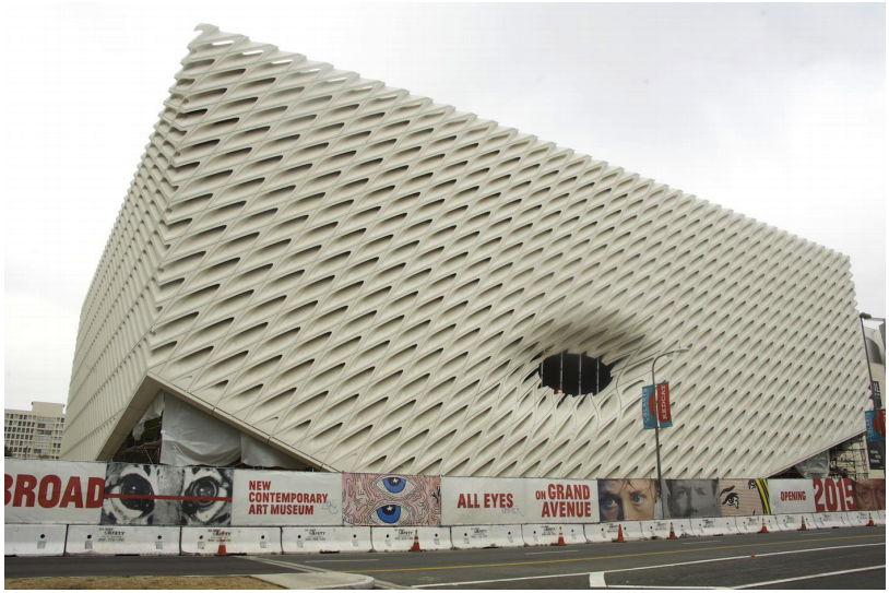 The Broad Museum (photo by Gary Leonard, via thebroad.org)