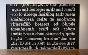'Patrick Killoran: Exeunt Angels', detail of installation view