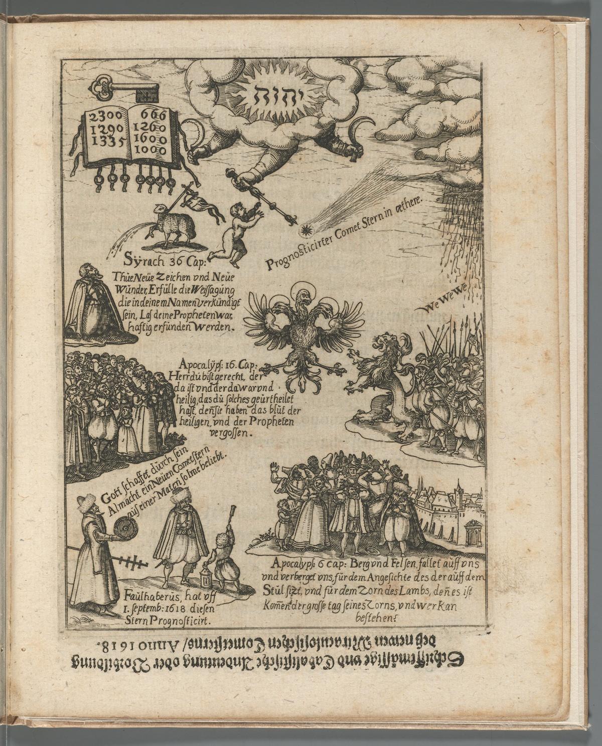 Faulhaber, Johannes, 1580-1635. Fama syderea nova. Nuremberg: S. Halbmayer, 1618. *GC6.F2735.618f. Houghton Library, Harvard University.