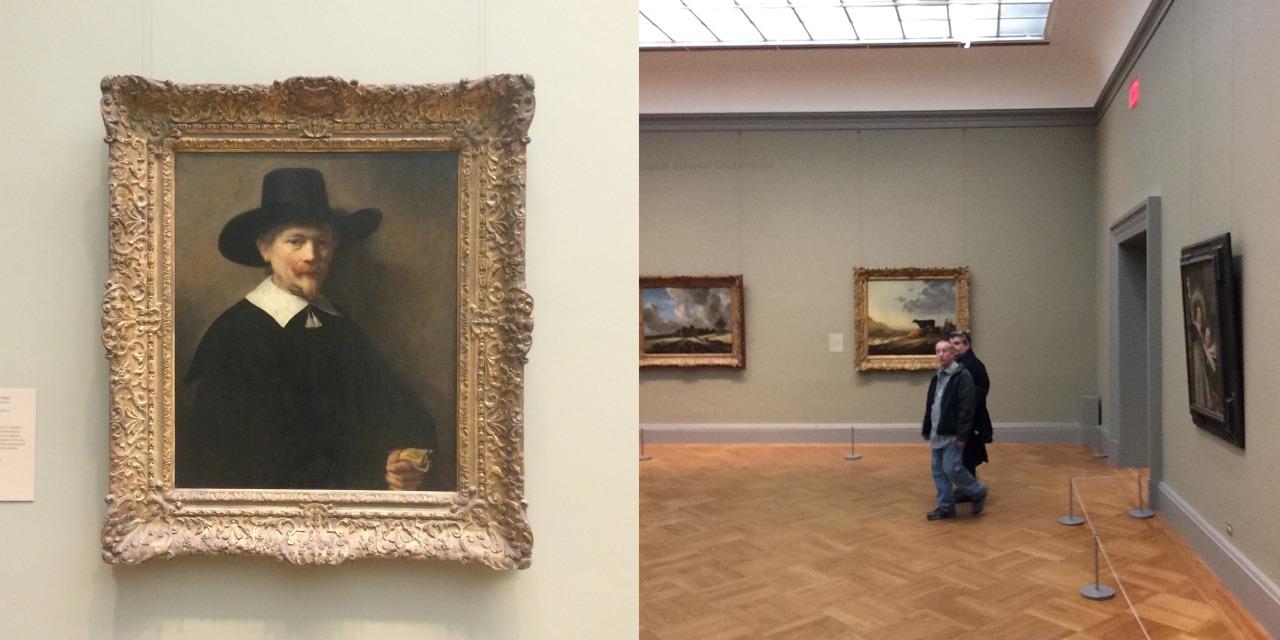 "Rembrandt van Rijn, ""Portrait of a Man Holding Gloves"" (1648), oil on wood"