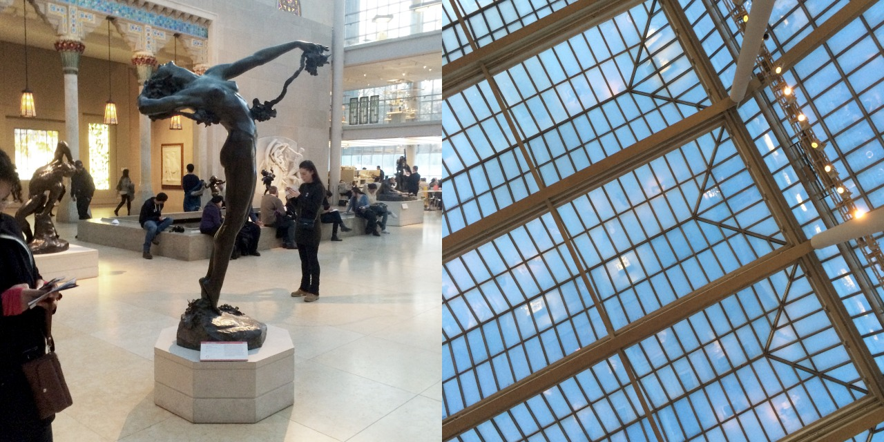 """Harriet Whitney Frishmuth, """"The Vine"""" (1921, revised 1923, this cast 1924), bronze, and its view"""