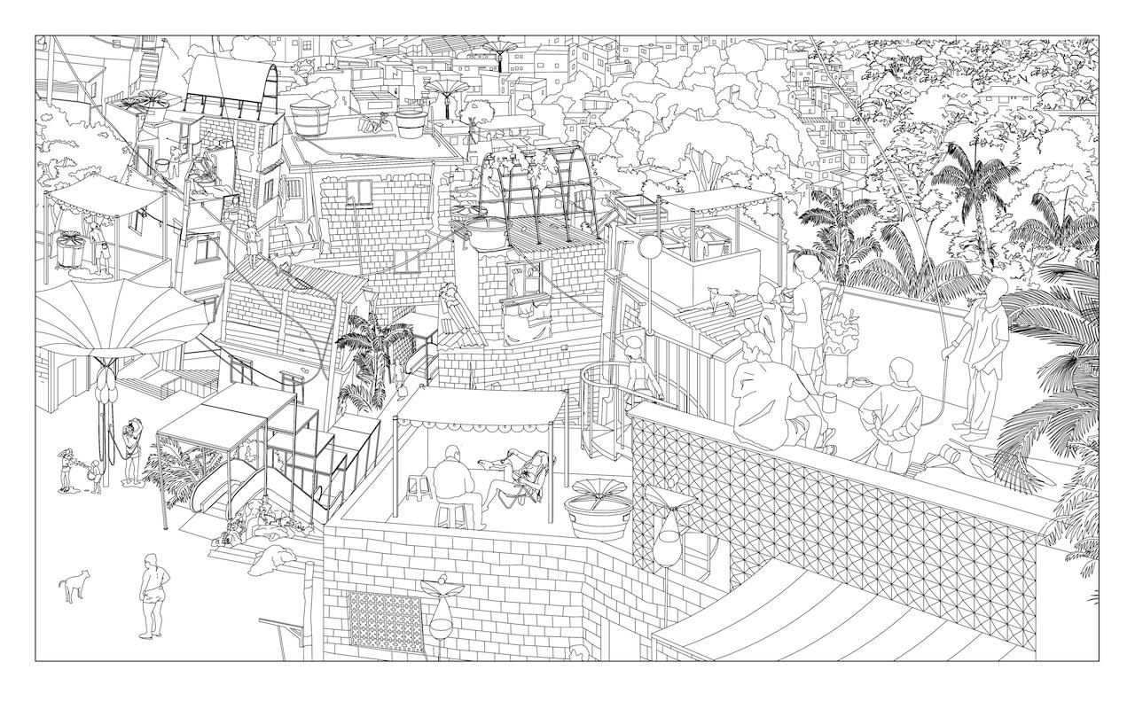 The Carioca Way of City Making. 2014. Varanda Products panorama. Courtesy RUA Arquitetos and MAS Urban Design, ETH Zurich