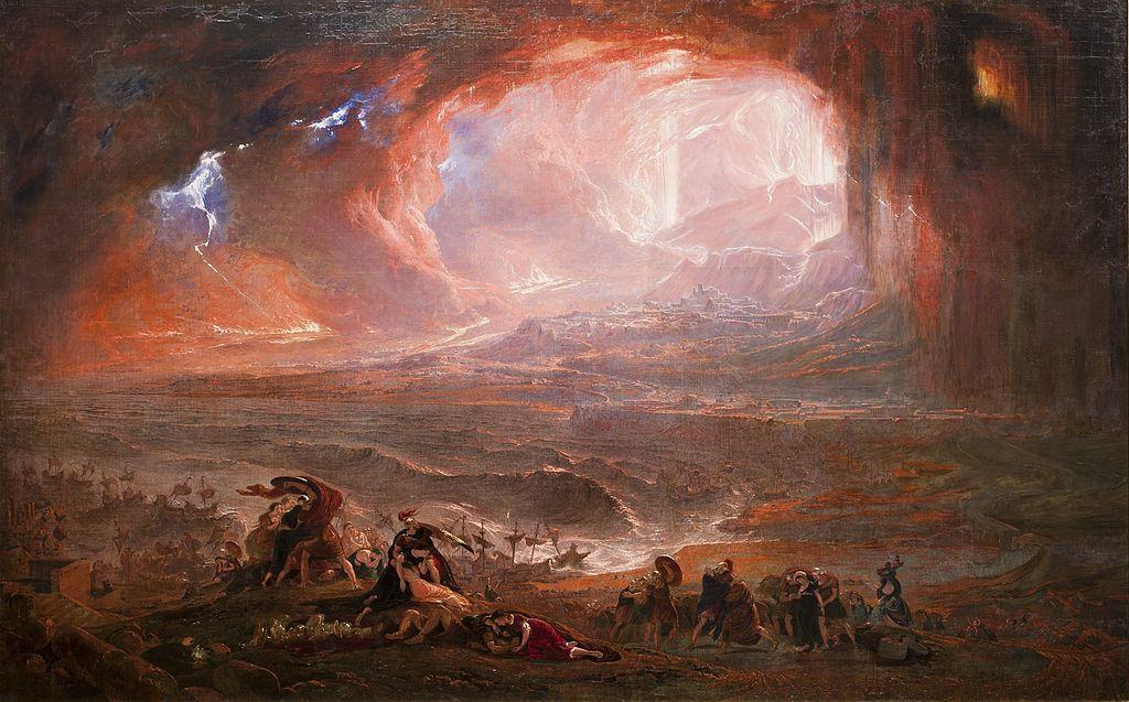 "John Martin, ""Destruction of Pompeii and Herculaneum"" (1821) (via Tate Britain)"