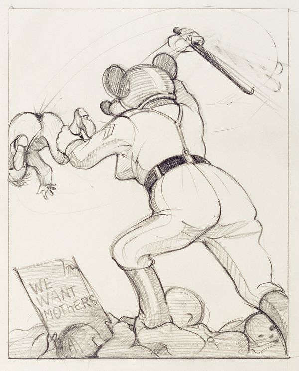 Untitled (We want mothers), 1977‐1979 (drawing for Babylon, first published 1979 at Diogenes Verlag AG, Zürich).