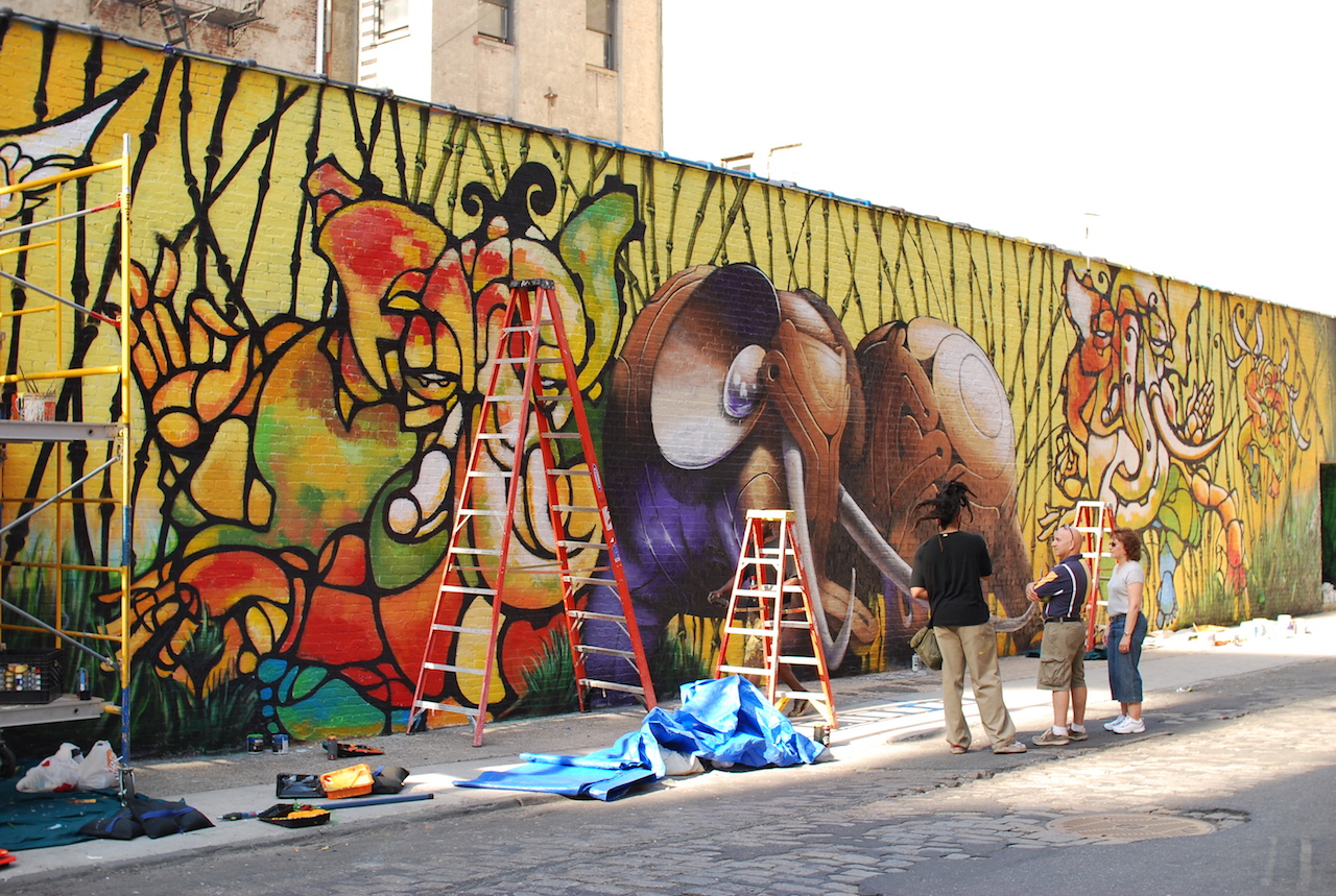 The 303 Collective's Water Street mural (photo by dumbonyc/Flickr)