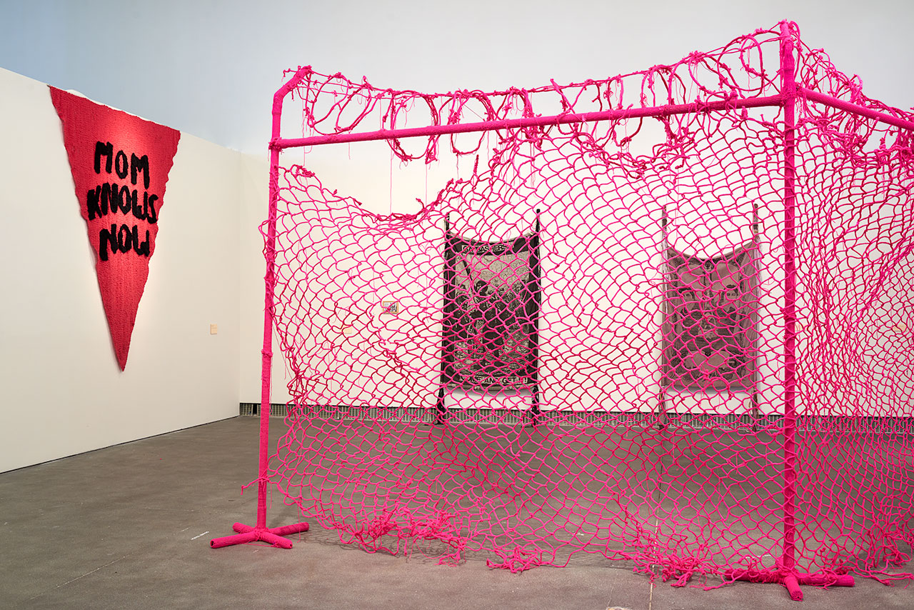 Installation view, 'Alien She' at Yerba Buena Center for the Arts, 2014 (images courtesy Phocasso and Yerba Buena Center for the Arts, San Francisco)
