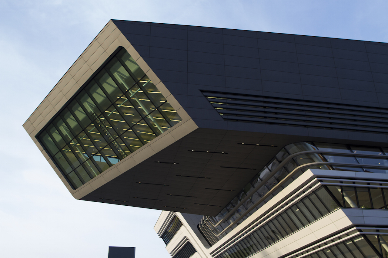 Zaha Hadid's Library and Learning Center at the Vienna University of Economics and Business (photo by Shokolo/Flickr)