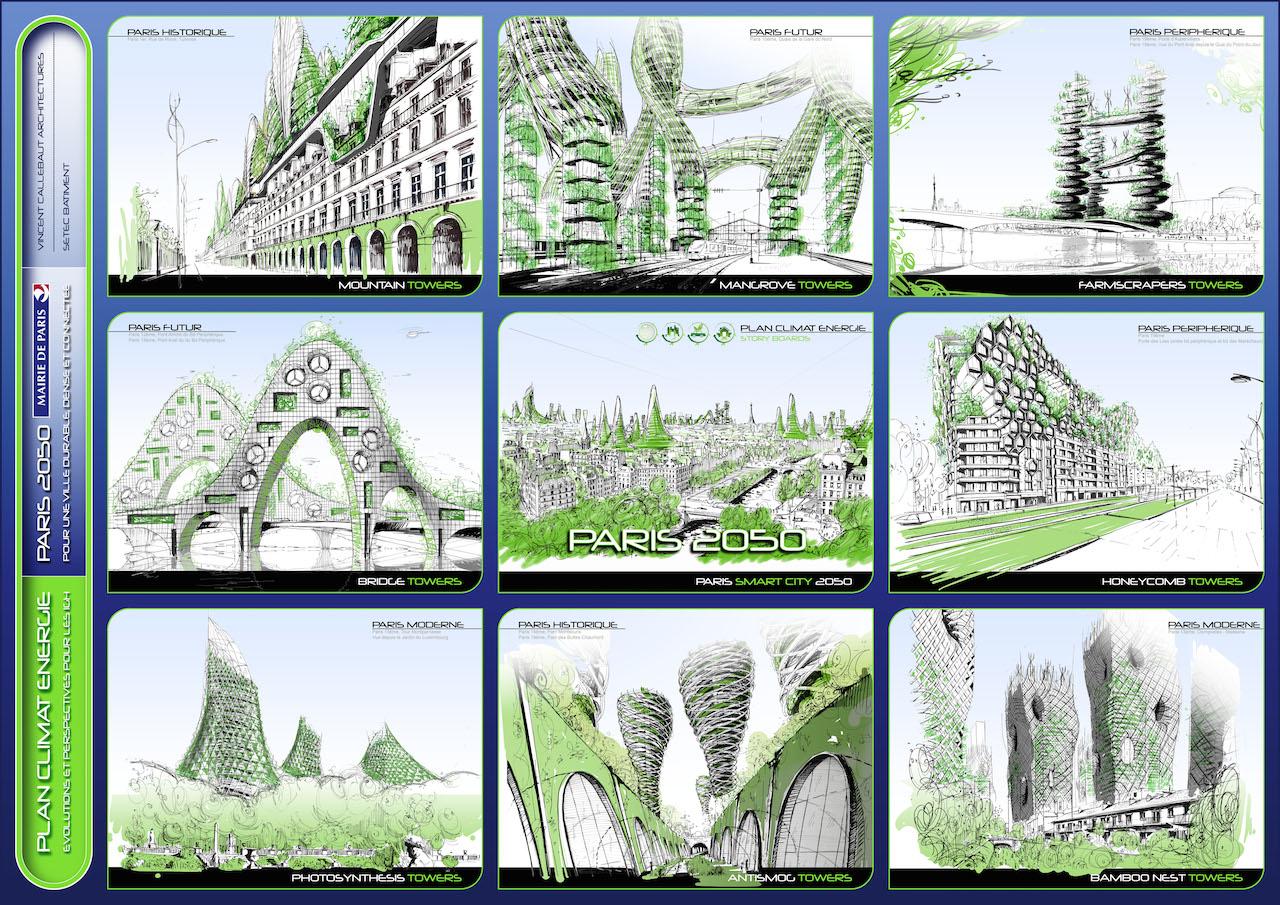 Conceptual Sketches © VINCENT CALLEBAUT ARCHITECTURES