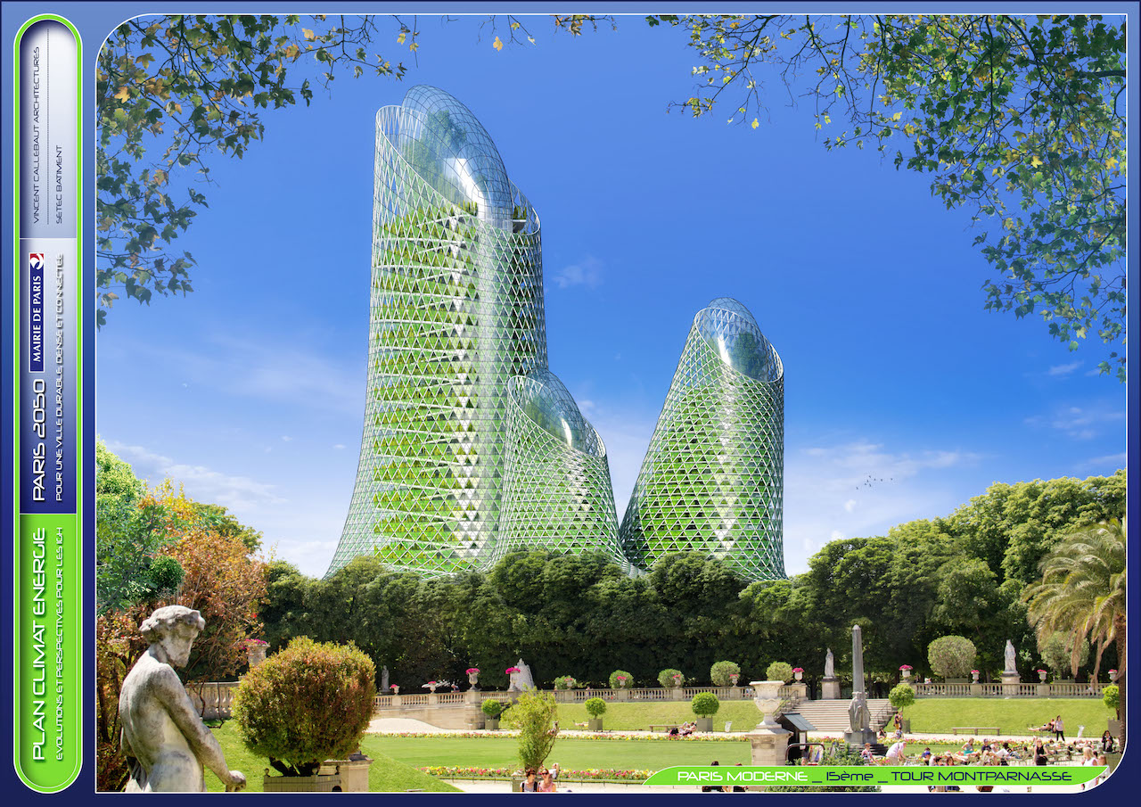 Photosynthesis Towers © VINCENT CALLEBAUT ARCHITECTURES