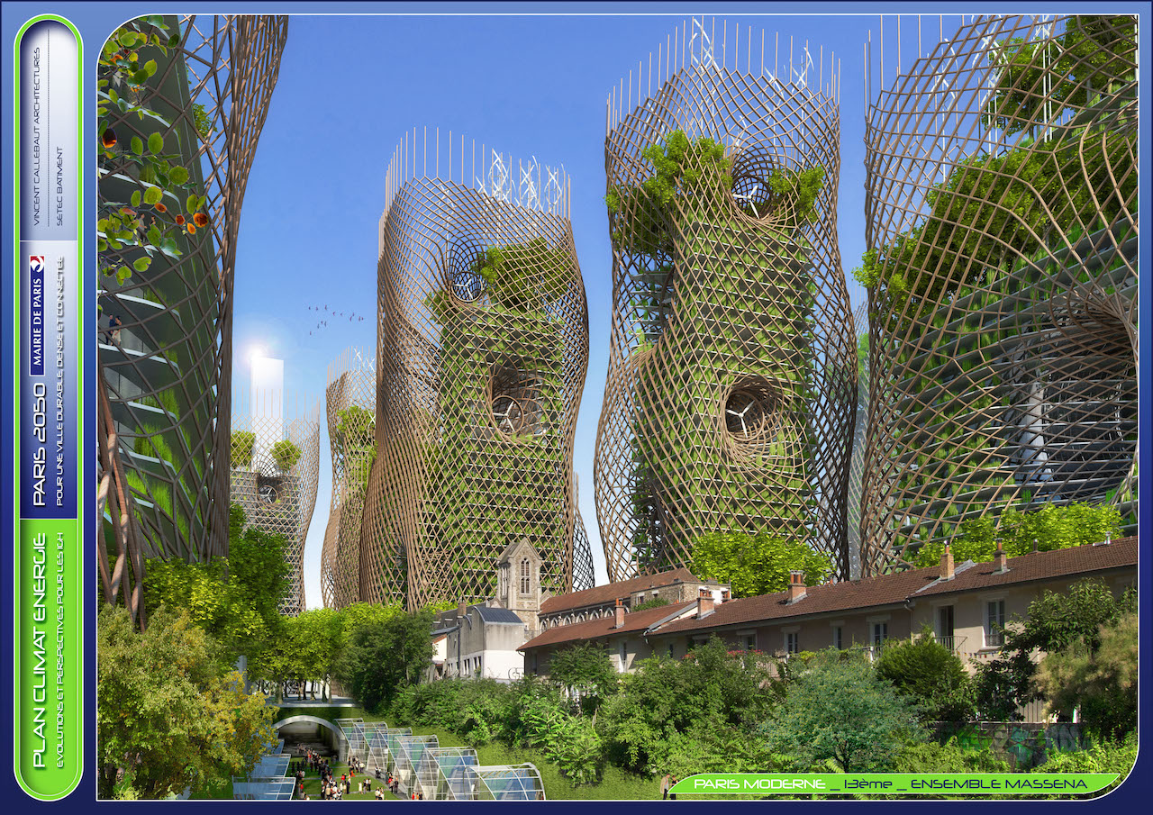 Bamboo Nest Towers © VINCENT CALLEBAUT ARCHITECTURES