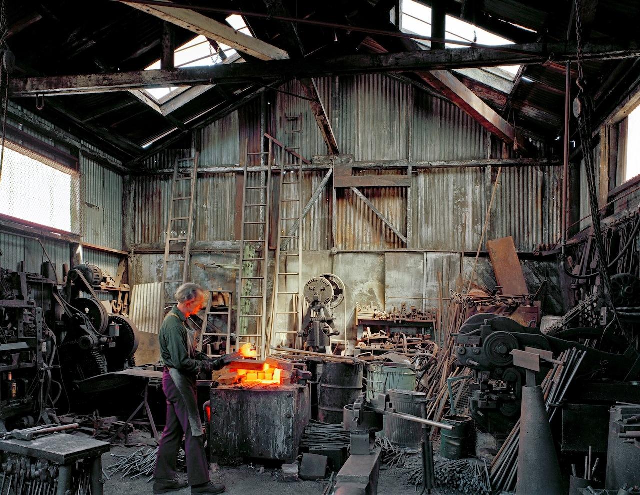 """Janet Delaney, """"Johnny Ryan Blacksmith Klockars, Blacksmith and Metal Works, 443 Folsom Street"""""""