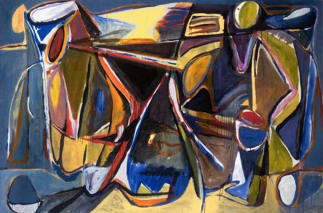 "Bram van Velde, ""Untitled, Paris-Montrouge"" (1956), oil on canvas, 51 x 76-3/4 inches (via members.chello.nl)"