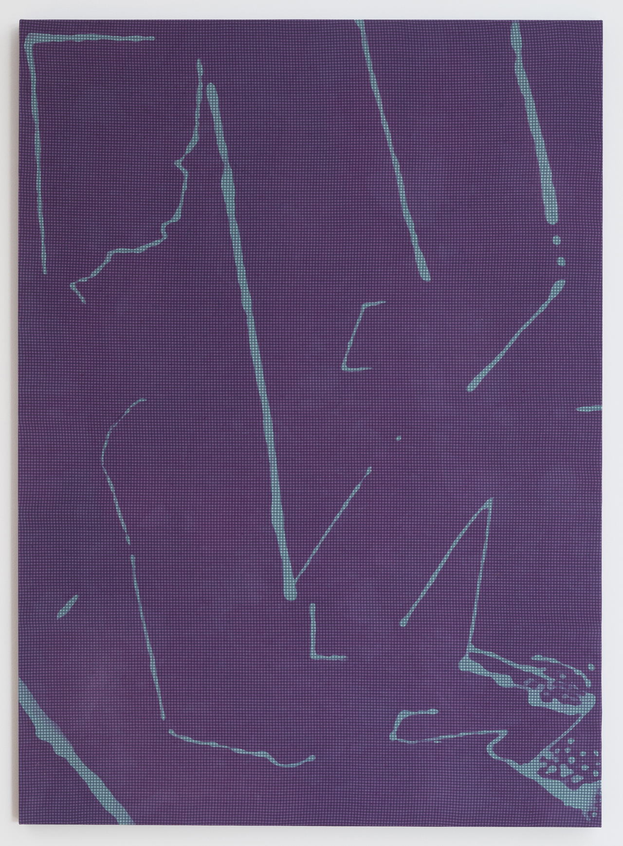 """Cheryl Donegan """"Untitled Resist (purple and pale blue)"""" (2014"""