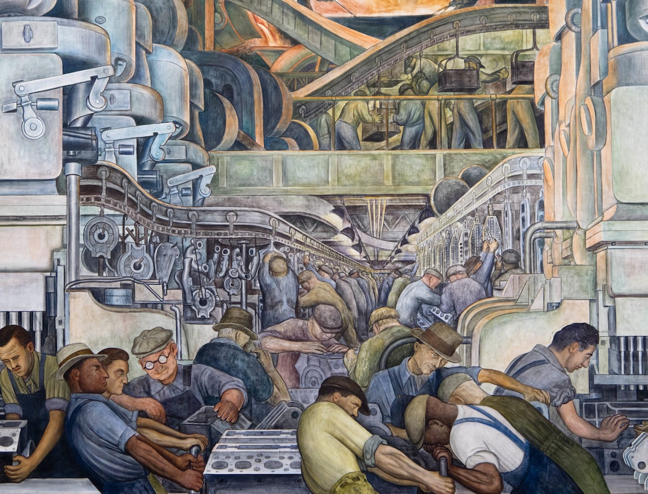 Detroit Industry - north wall detail