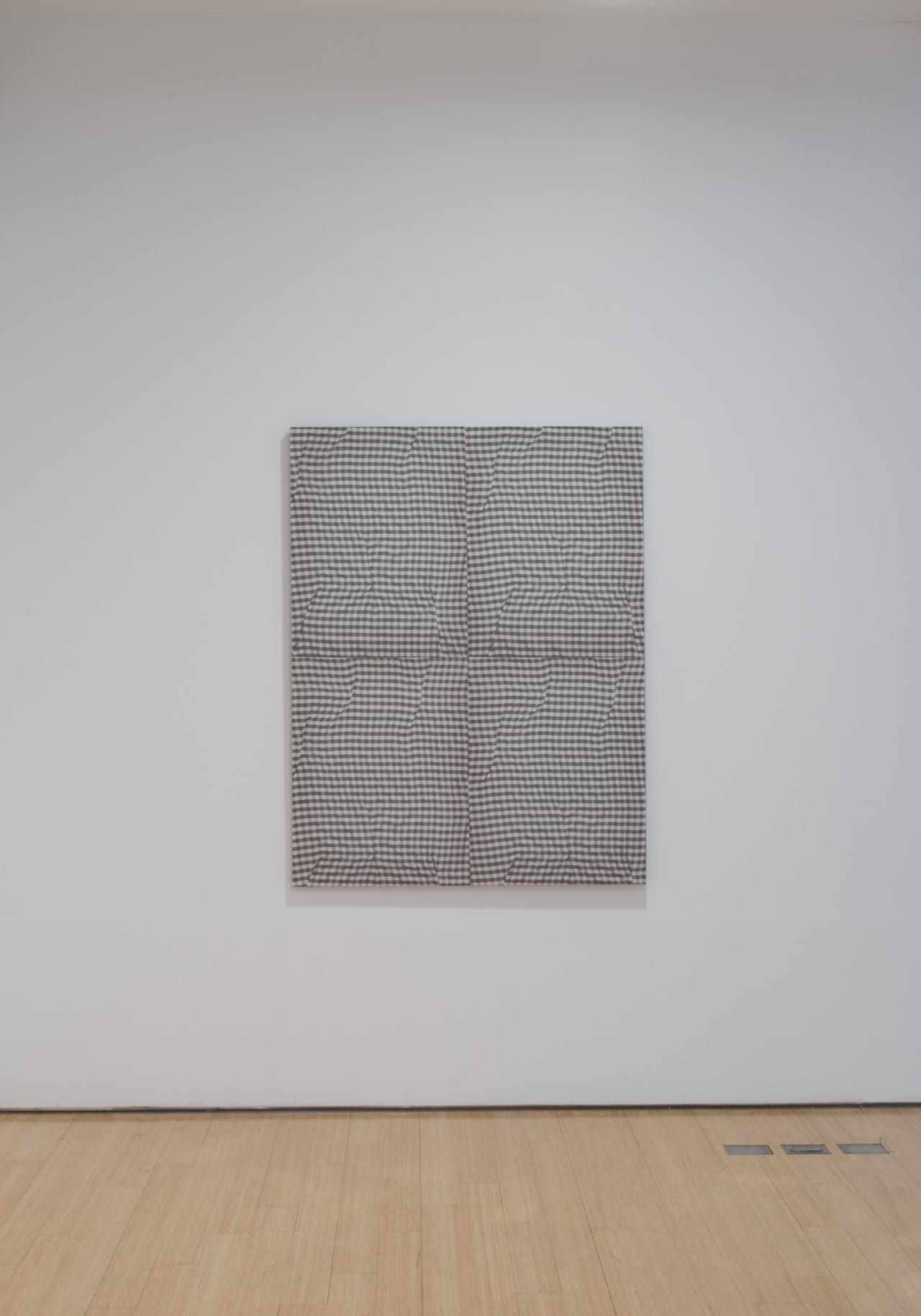 "Cheryl Donegan ""Untitled (gray folds)"" (2014"
