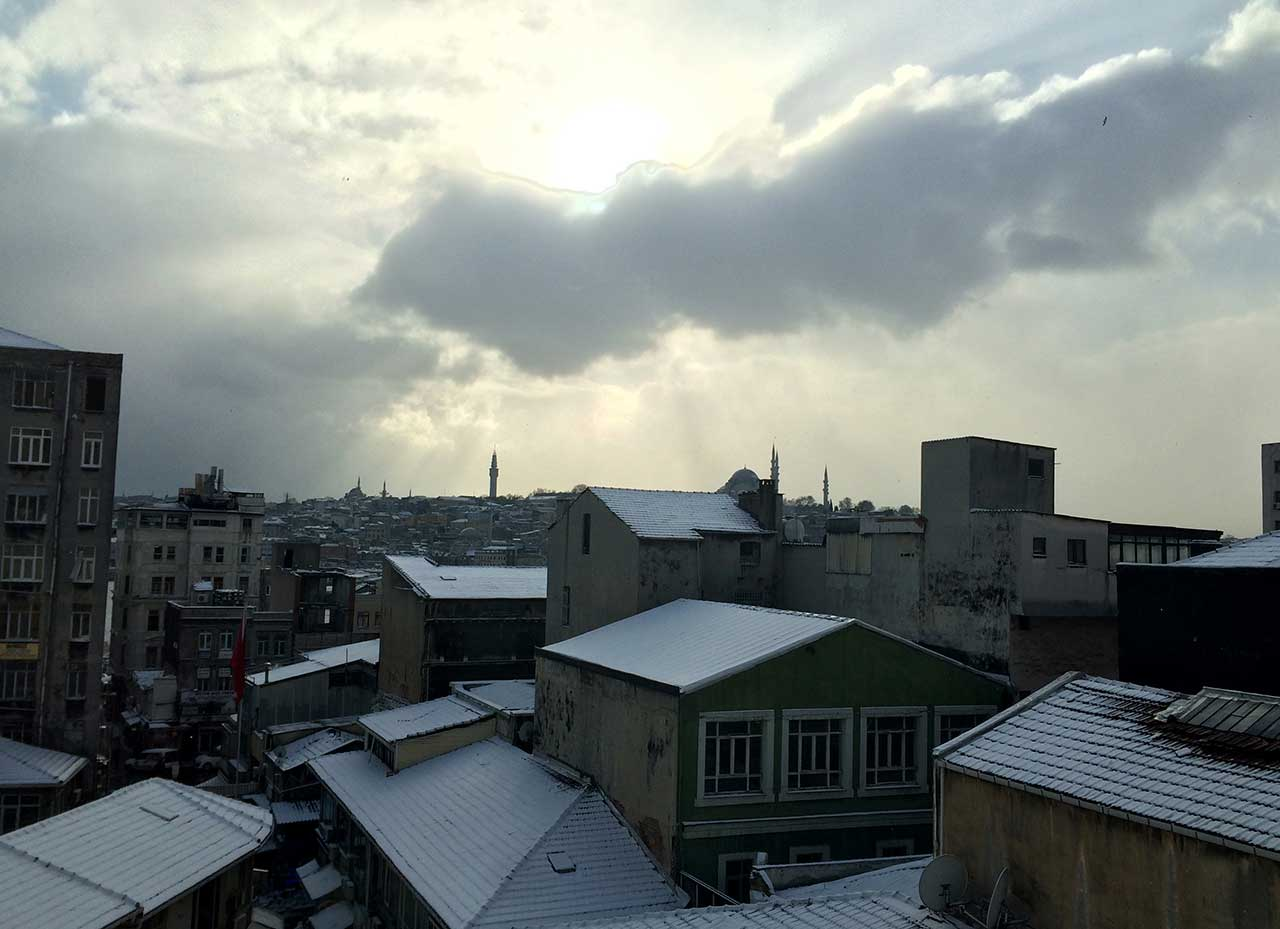 A view of Istanbul in January, from SALT Galata