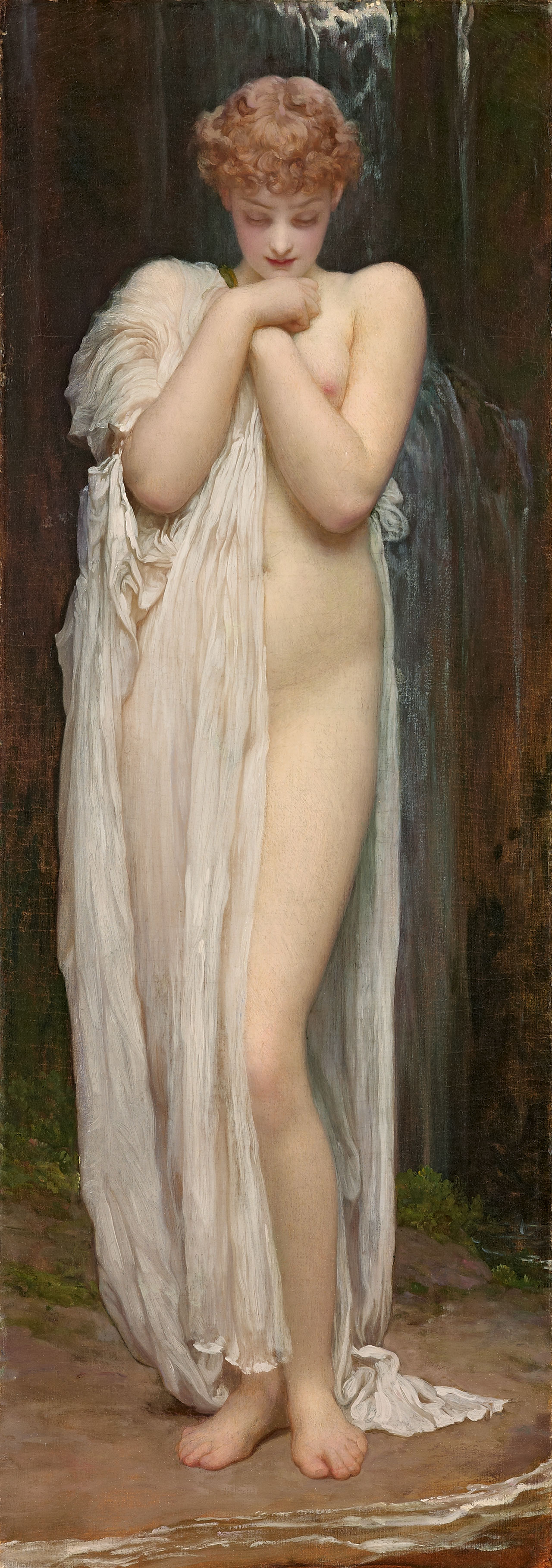 """Frederic Lord Leighton, """"Crenaia, the Nymph of the Dargle"""" (1880)"""