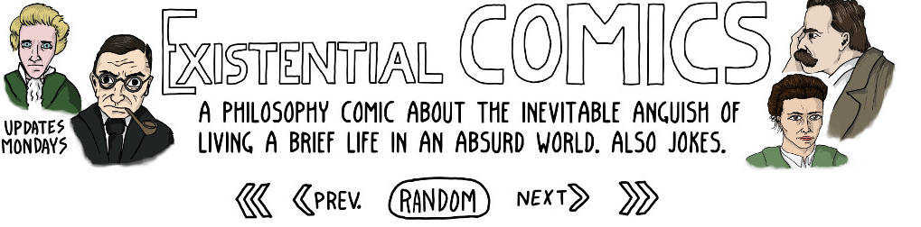 The Existential Comics logo, courtesy of the artist.