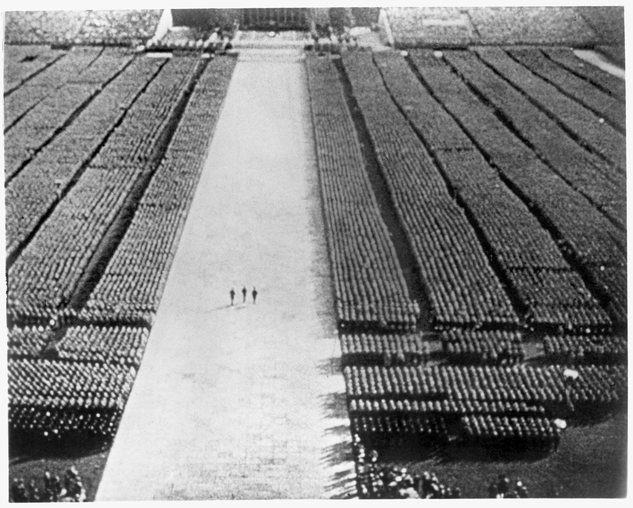 Still from director Leni Riefenstahl's Triumph of the Will. The Museum of Modern Art Film Stills Collection.
