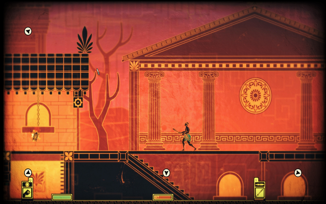 A temple in 'Apotheon'