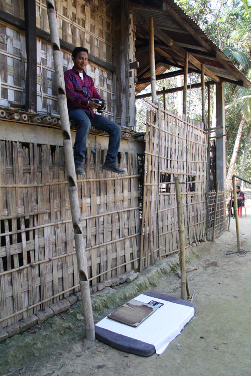 Digitising the written legacy of northeastern India's Ahom Kingdom manuscripts written in the Tai Ahom script, no longer used in daily life. Endangered Archives Programme. Photography © Dr Stephen Morey