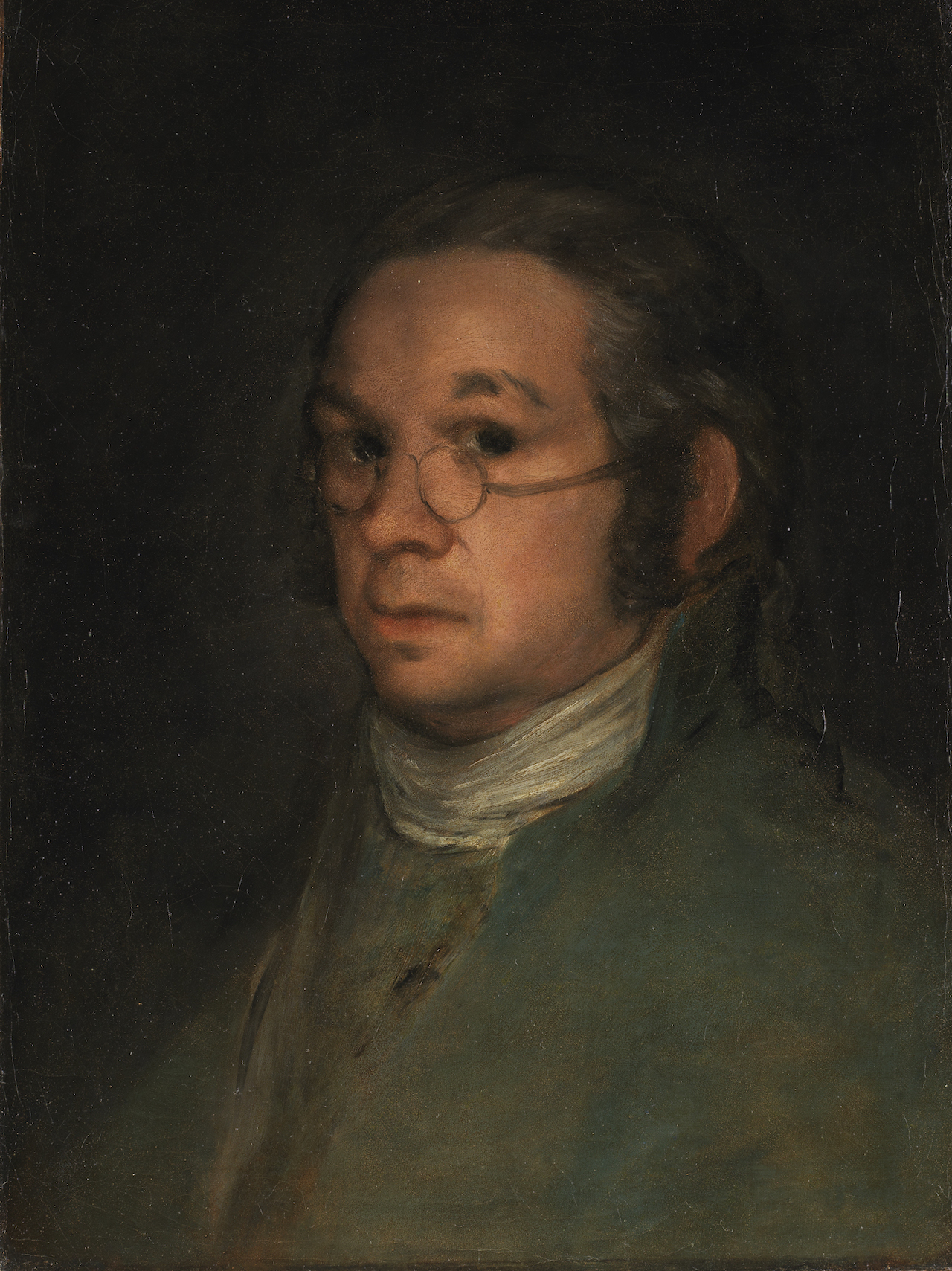 "The Bayonne painting: Francisco Goya, ""Self-Portrait with Spectacles"" (circa 1800) (© Bayonne, Musée Bonnat-Helleu; photo by A. Vaquero)"