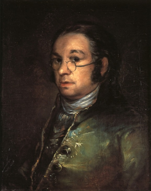 "Francisco Goya, ""Self-portrait with spectacles"" (circa 1800) (© Musée Goya, Castres; photo by P. Bru)"