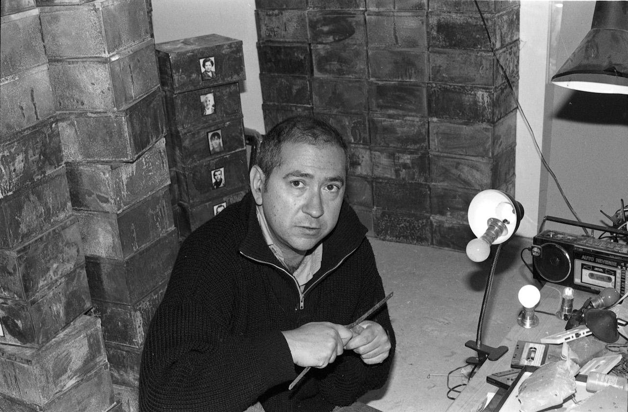 Christian Boltanski in his studio in 1990 (photo by Bracha L. Ettinger/Flickr)