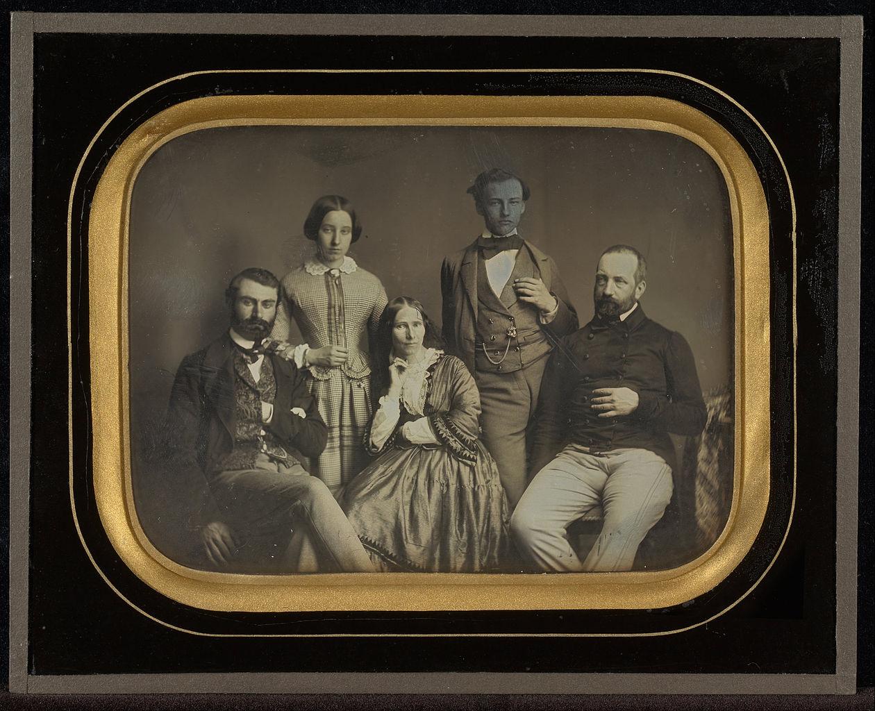"Jean-Gabriel Eynard, ""Charles and Sophie Eynard and Their Children"" (1856), daguerreotype (J. Paul Getty Museum, via Wikimedia)"