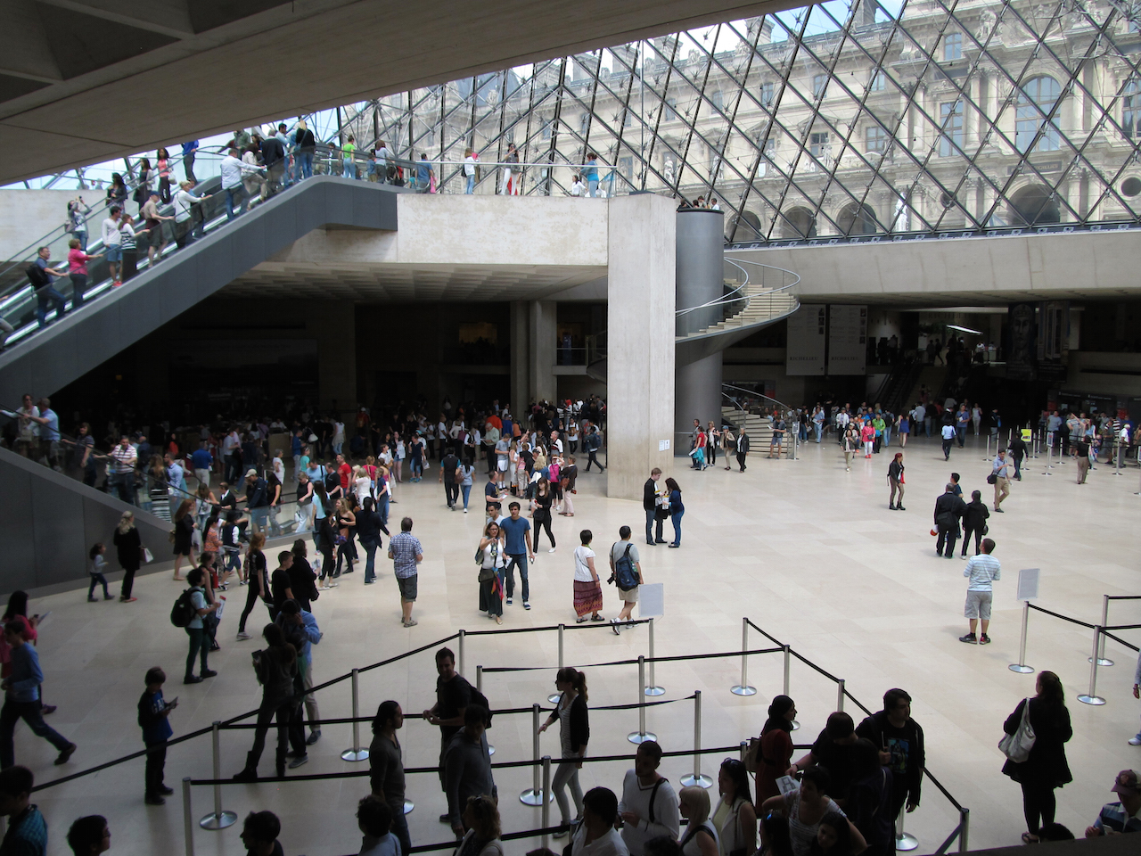 The lobby of the Louvre (photo by daryl_mitchell/Flickr)