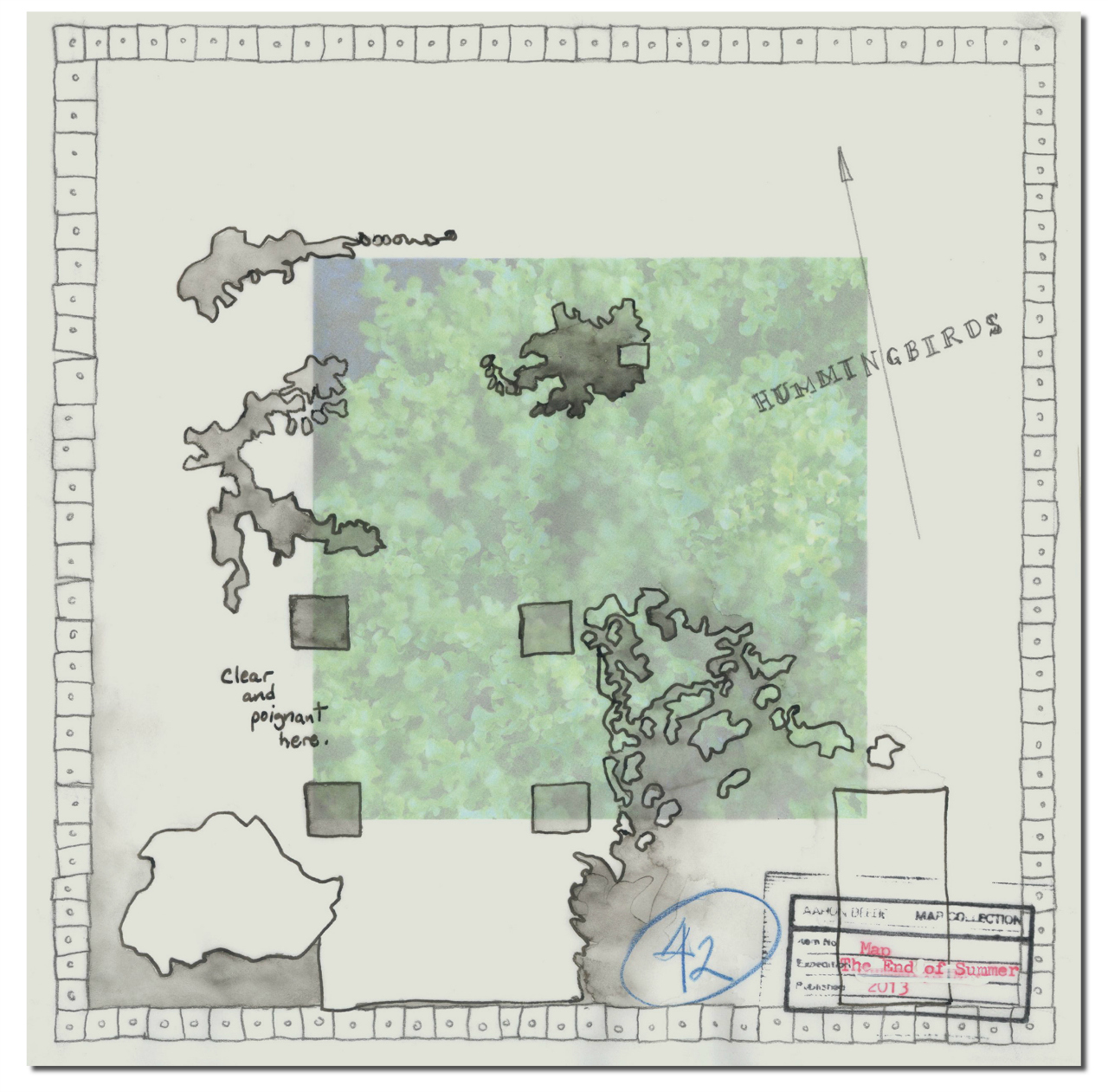 Aaron Beebe, Map, The End of Summer, 2013