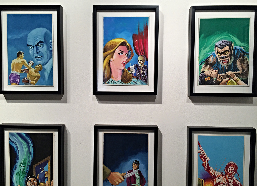'Pulp Drunk: Mexican Pulp Art' at Ricco/Maresca (photograph by the author for Hyperallergic)