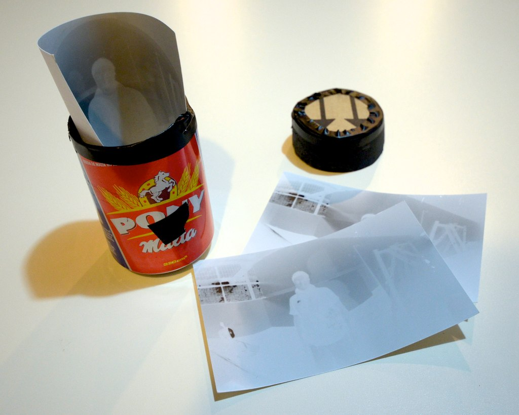 An example of a pinhole camera fashioned from a tin can (photo by denialpolez/Flickr)