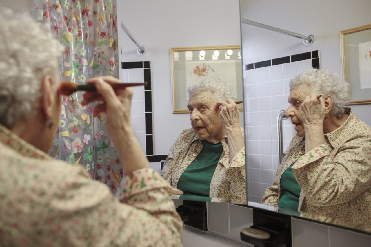 Sonia Goldstein, 86, gets ready to meet a friend for dinner and see a theater play in the Lower East Side. New York, NY. May 6, 2014.