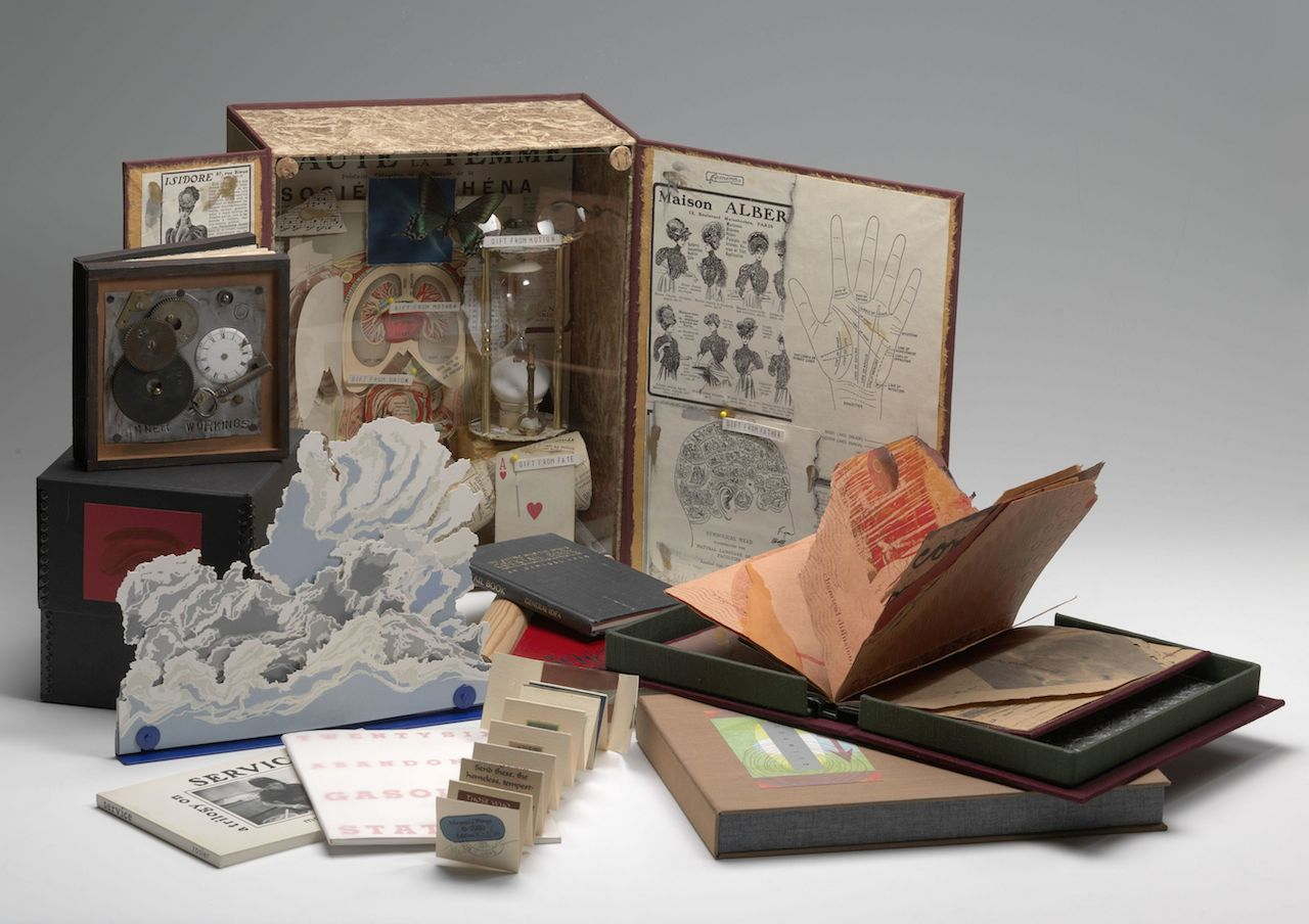 A selection of artists' books at the AA/PG Library (courtesy Smithsonian Libraries)
