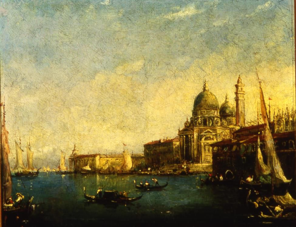 """Church of Santa Maria Della Salute,"" a painting after Francesco Guardi, was stolen from University of Toronto's Trinity College between January 30 and February 10. (image courtesy Toronto Police Service)"