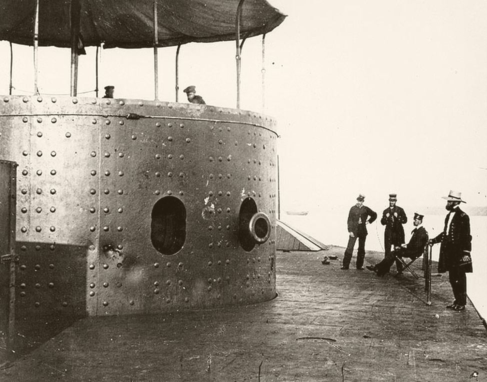 USS Monitor in 1862 (via United States Naval History & Heritage)