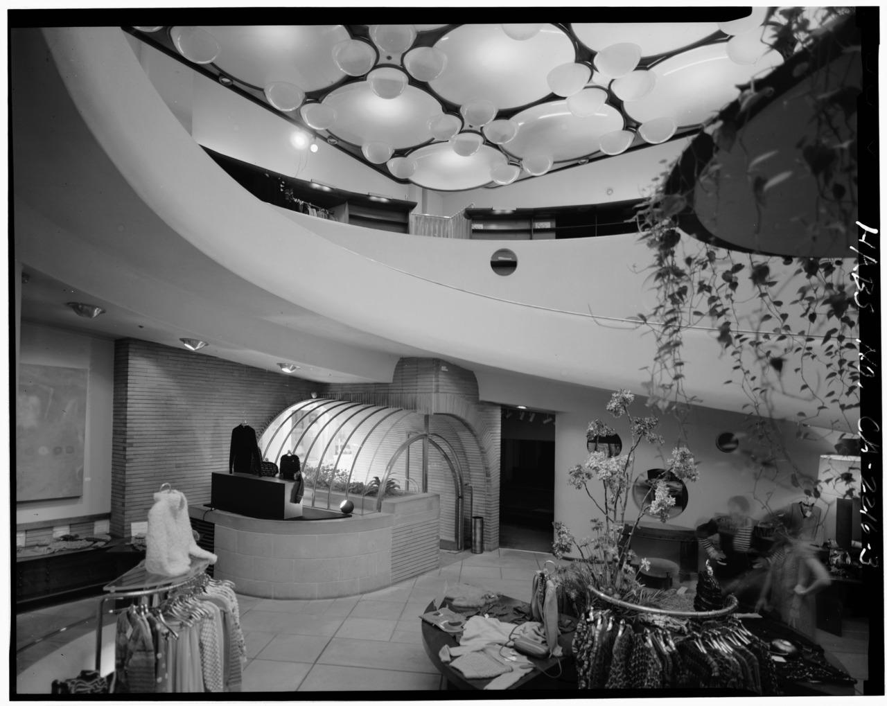 V.C. Morris Gift Shop in an archive photograph (via Historic American Buildings Survey)