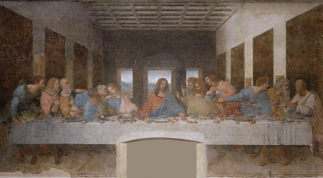 "Leonardo's ""Last Supper"" (1495–98) (via Wikipedia)"