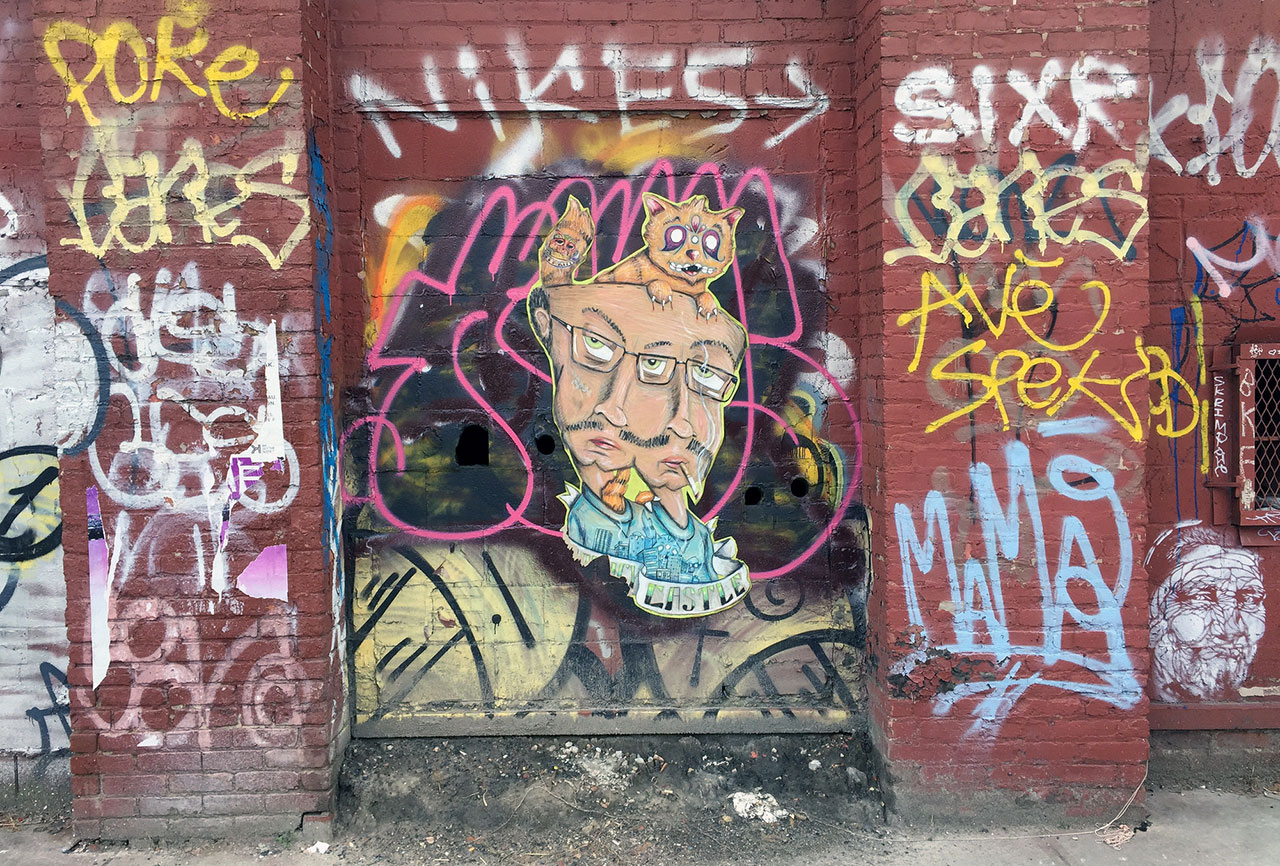 An Active Graffiti And Street Art Spot In Williamsburg Brooklyn Photo By The Author
