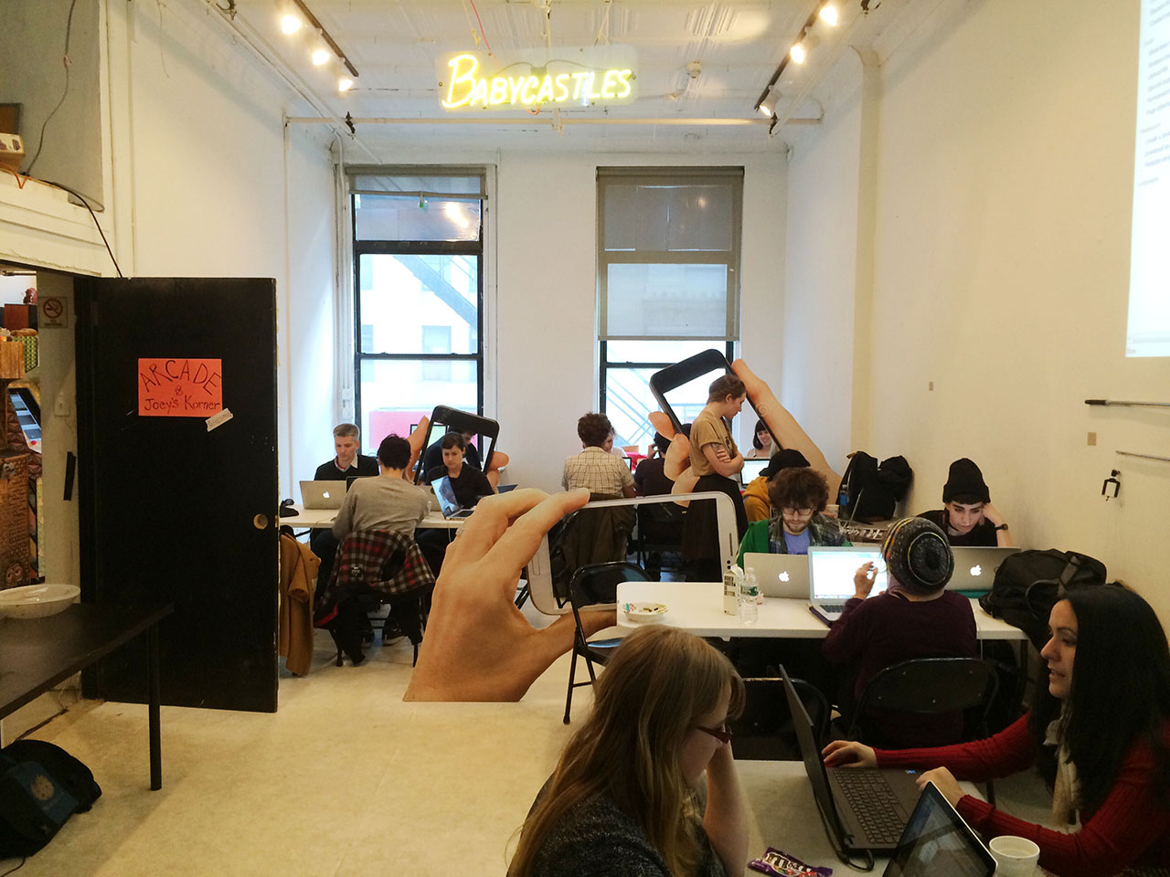 The Art+Feminism 2015 Wikipedia Edit-a-thon at Babycastles (all photos by the author unless otherwise noted)