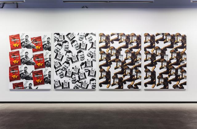 "Carly Mark, ""Doritos Rivera""; ""Utz Fischer""; ""Francisco de Goya Plaintain Chips,"" 2015."