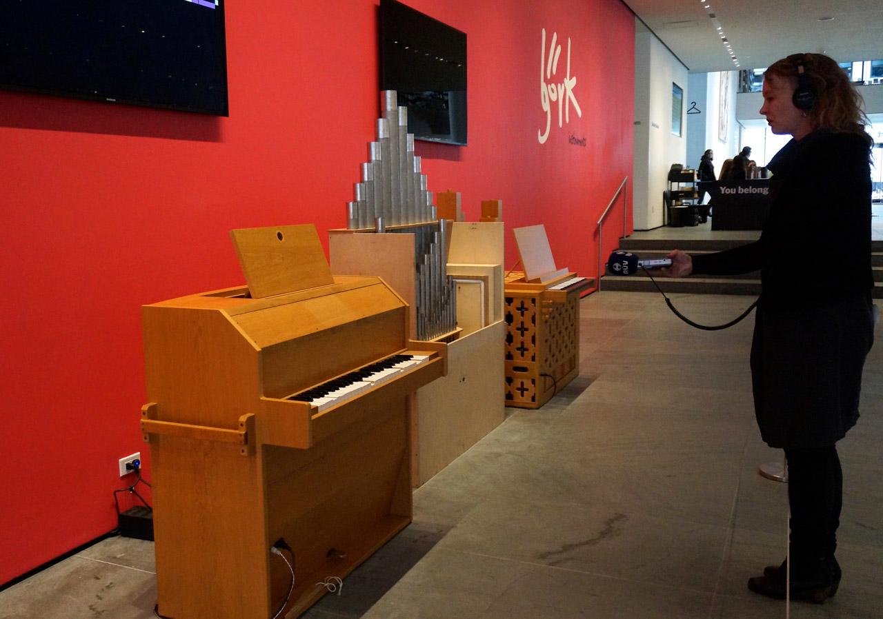 Instruments for 'Biophilia': Björgvin Tómasson and Matt Nolan's Gameleste and Björgvin Tómasson's Pipe Organ