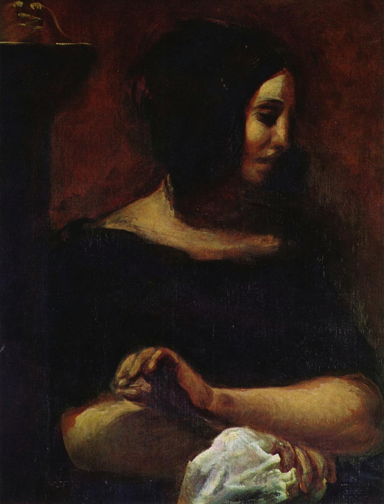 Delacroix's portrait of George Sand (Image via Wikimedia)