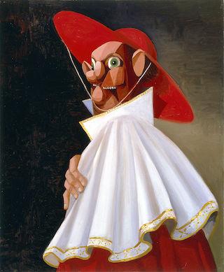 "George Condo, ""The Cracked Cardinal"" (2001) (via Wikipedia)"